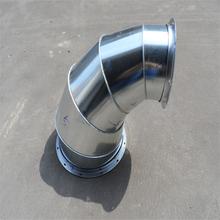 肇庆加工304圆形风管螺旋风管配件弯头规格齐全图片