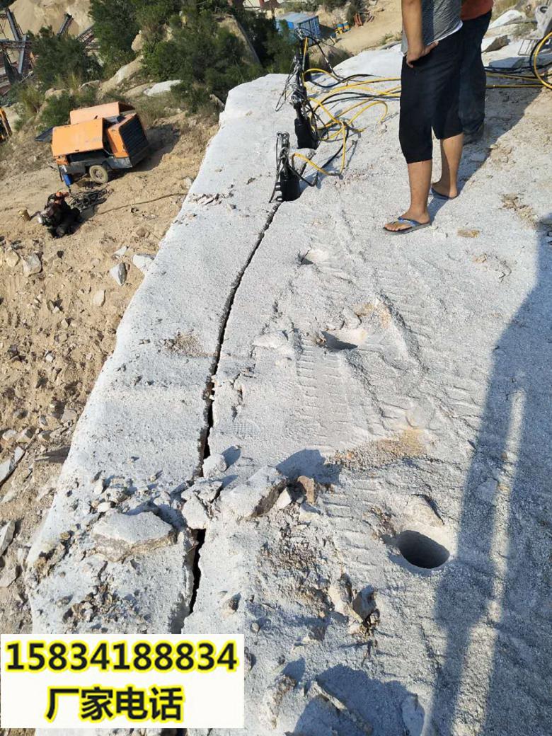 塔城采石场不能放炮怎么办用什么机器-破石方案