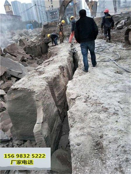 浙江湖州工程建設中石頭太硬打不動不能放炮怎么辦快速開采