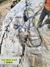 鸡西石材厂开挖不让放炮快速破开岩石设备售后服务图片