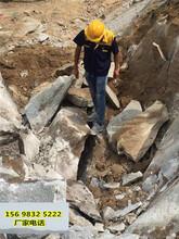 黑龙江七台河采石场不能放炮用什么机器产量高方案选取图片
