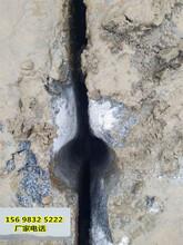 日照深坑基础破硬石头挖机炮头打不动用破石机案例回顾图片
