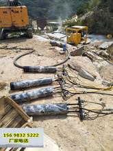 亳州山上石头破碎拆除快速裂岩机器不扰民图片