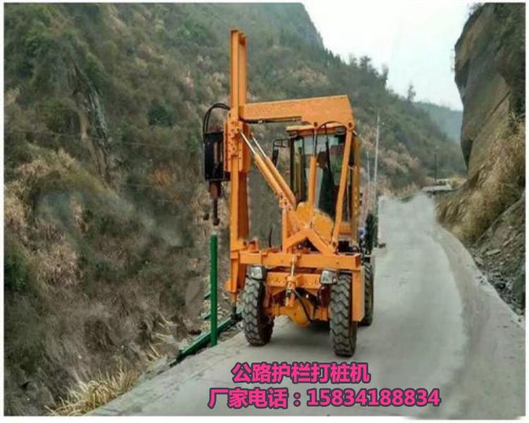 安徽芜湖高速公路护栏打桩机租赁