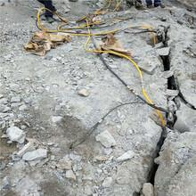 台州市城市建设地基开挖石头劈裂机技术指导图片