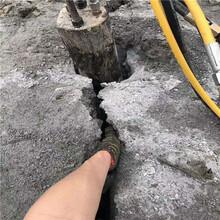 溧阳市露天矿岩石开采碰到硬石头劈裂机成本多少图片