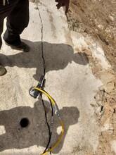 北海破石头挖地基破石头机器液压撑裂机施工案例图片