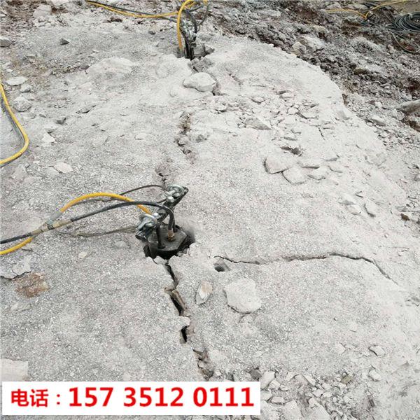 永安市采石场不用爆破开石头劈石机-开采岩石机