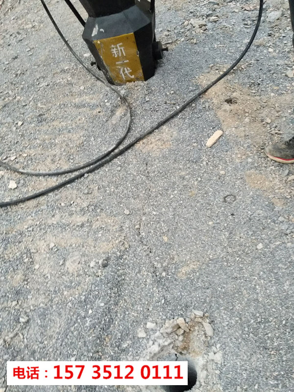 浙江湖州分裂硬石头机器液压劈裂机-大型劈裂斧