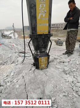 湖南岳阳玄武岩破碎用什么机器代替放炮-撑岩石机