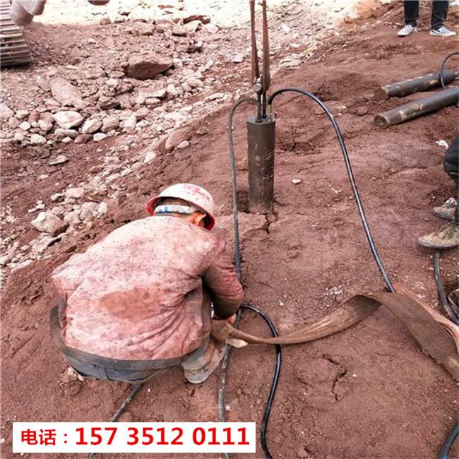 内江资中开山铺路无法放炮破硬石头怎么办减少人工费