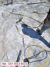 阿坝地产基坑开挖岩石分裂机-施工现场图片