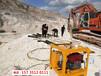 棗莊市中開石頭機器石方基礎用液壓劈裂機-破硬石頭