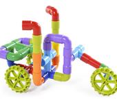音乐盒儿童拼装节日积木玩具CPC认证