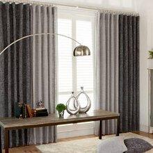 布艺窗帘沙帘卧室窗帘客厅窗帘图片