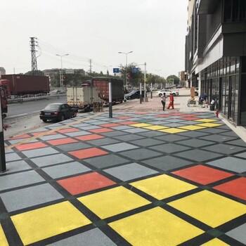 兰州海绵城市铺装建设、透水混凝土、彩色透水路面专业施工
