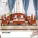 小巴花国色天香沙发-红木沙发-花梨木沙发-新古典家具
