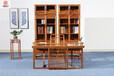 新中式家具-刺猬紫檀书房-红木家具-明清红木家具