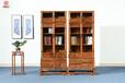 刺猬紫檀书柜-新中式家具-非洲花梨家具-清明家具