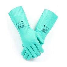 批发安思尔37-175丁腈防化手套耐油耐酸碱化学防护手套图片