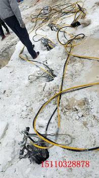 开山采石机械设备液压劈裂棒衢州替代破碎锤+