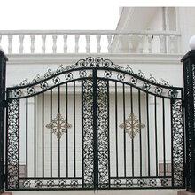 天津东丽区铁艺大门-铁艺空调罩设计厂家