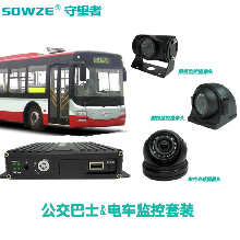 公交车车载监控套装四路720P车载录像机带gps定位录像抓拍功能图片
