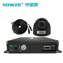 现货批发SD卡四路车载录像机汽车行车监控主机套装带半球摄像头图片