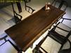 黑檀木家具沙发原木大板茶桌