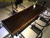 老板桌简约现代巴花实木大板