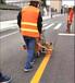 红河红河县机场道路划线机施工操作