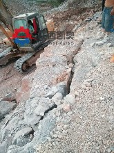 洛阳混凝土裂山机菱镁矿开采涨裂机劈裂机的使用图片