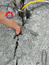 基坑撐裂器報價多少裂巖機石頭爆裂機常德圖片
