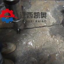 采石场岩裂机每小时能产多少劈力机边坡劈裂机荆州图片