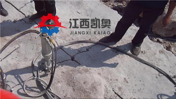 汕尾开山机劈裂棒制造人工挖孔桩风镐打不动竖井分石器