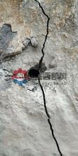 葫芦岛劈力机劈裂棒尺寸挖机破碎锤打石头没力基坑撑裂机图片