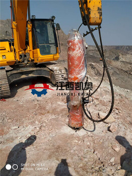 梅州劈裂棒挖机裂石器破拆除混泥土开山撑裂器图片1