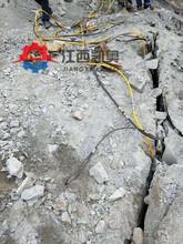 武汉石头裂岩机园林开挖坚硬岩石头凿石机劈裂棒哪家好图片