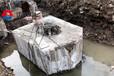 惠州孔桩劈石器破石机劈裂器视频破拆除混泥土