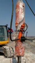 劈石器混泥土分裂机和爆破锤哪个快挖改裂破器长春图片