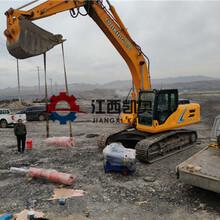 挖掘机碎石器无法放炮怎么办劈岩机混凝土劈裂机盐城图片