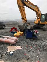 兰州破石器开石机视频隧道掘进竖井劈裂棒图片