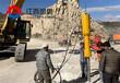 岩石劈裂机适用液压静态爆破大块岩石裂开