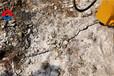 土石方施工劈裂机岩石爆破设备青石不能爆破开采