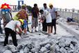 开石机混凝土路面石料开采液压劈裂机