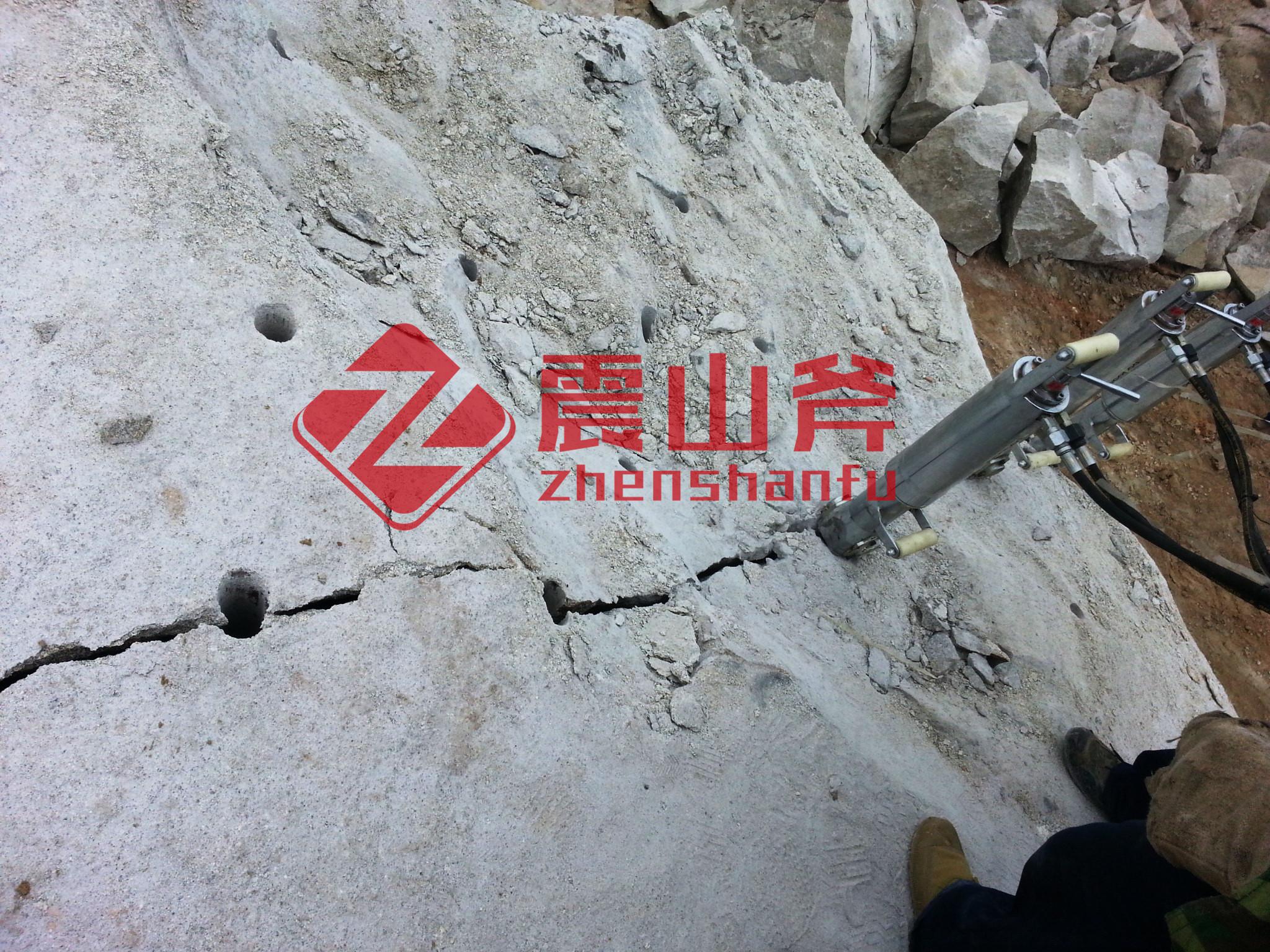 三明顶管开挖岩石劈裂机江西震山斧