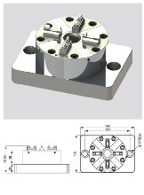 EROWA夹具CNC机床D100卡盘气动卡盘快速换装工装治具