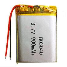 振博廠家直銷KC認證鋰電池803040-900mah按摩器/LED/電子玩具電池