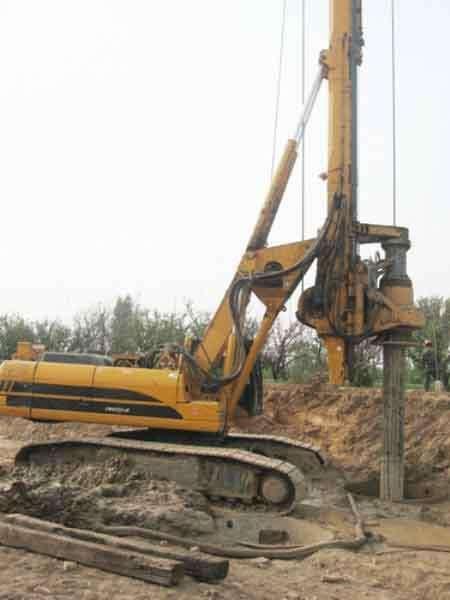 广西南宁市三一旋挖桩基础施工公司出租八成新三一280旋挖钻机旋挖桩机