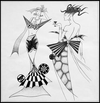 华艺服装设计专业课程:平面构成在服装设计中的运用